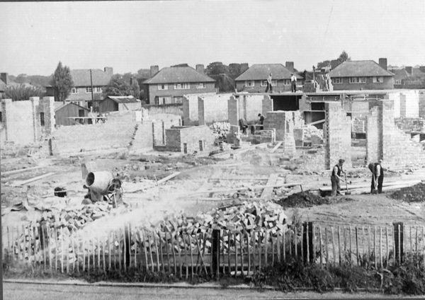 Haveley Road in the making 🏗, Benchill 1949 - taken from Wythenshawe History Group's photo archives