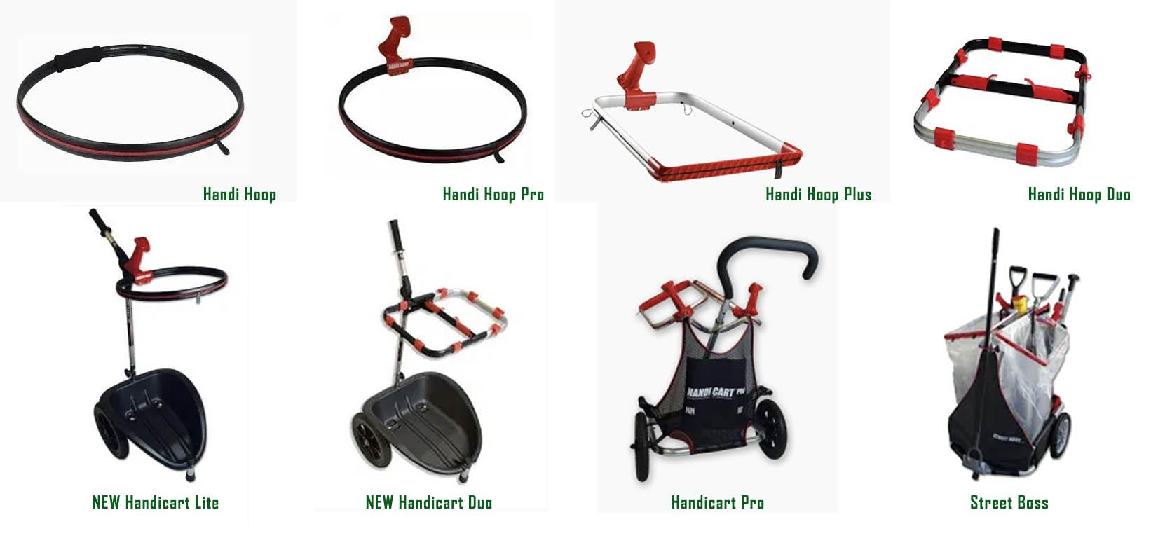 Click on image to explore the range of bag hoops and  litter carts