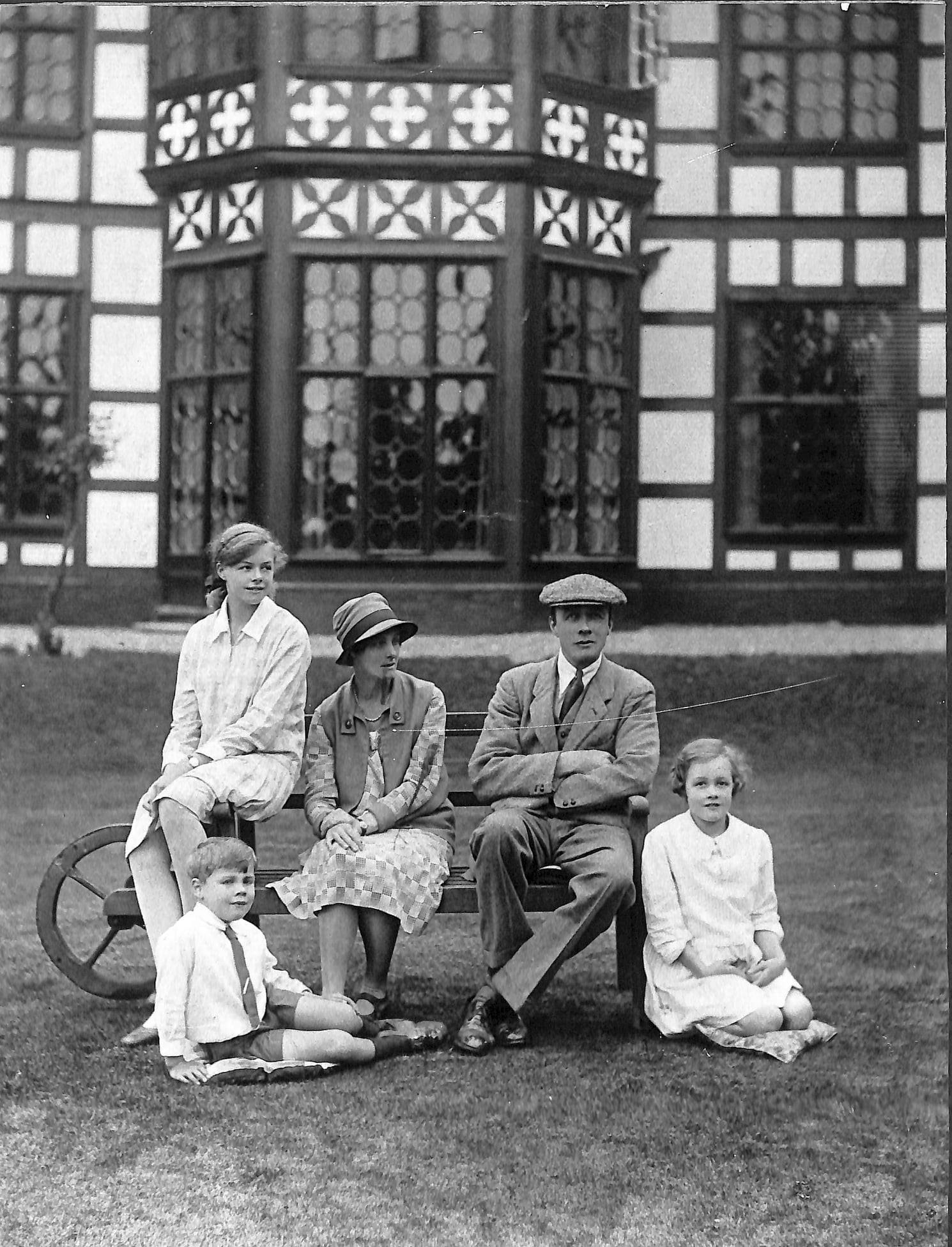 Tatton Family outside Bramhall Hall, 1928. Manchester Local Image Collection ref: m734369