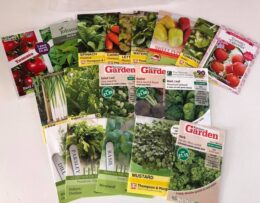 Seeds donated to Woodhouse Park Family Centre by Sharston Allotment